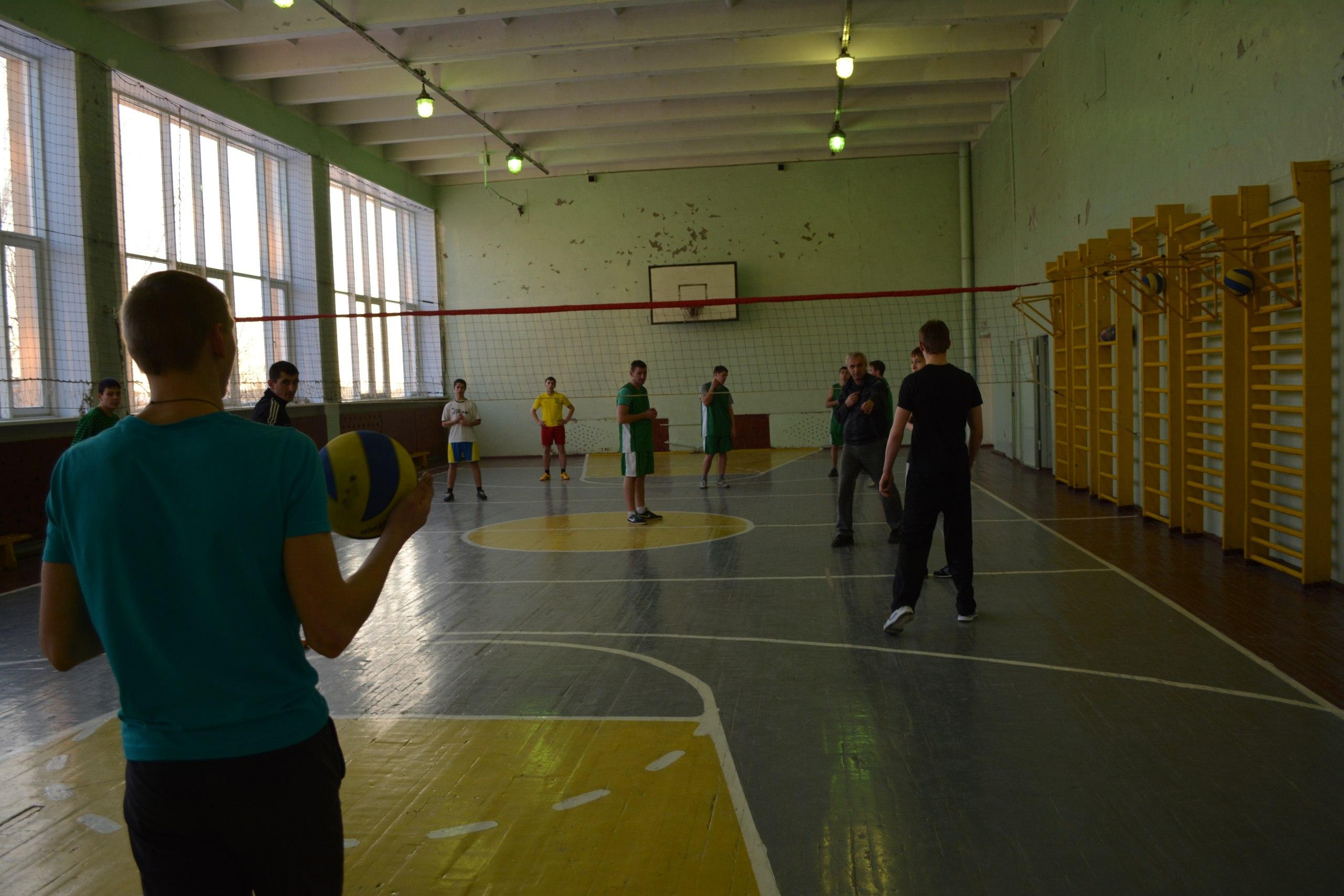 Матч по волейболу.